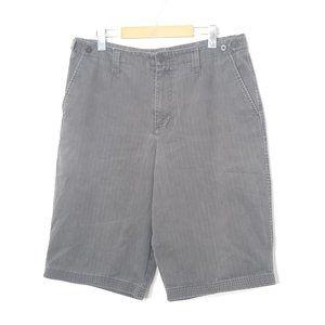 George | Black Faded Cotton Denim Jean Shorts 34